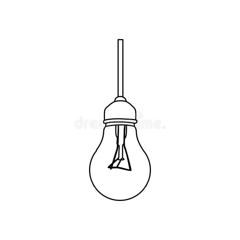 figura imagem de suspensão do ícone do bulbo ilustração royalty free