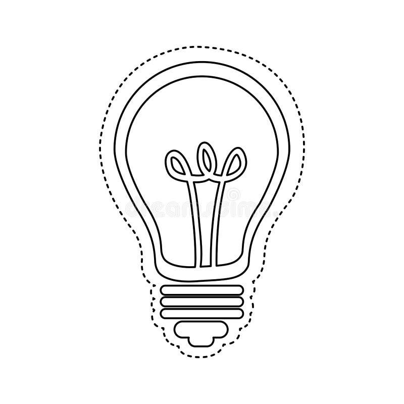 figura imagem do ícone do bulbo ilustração royalty free