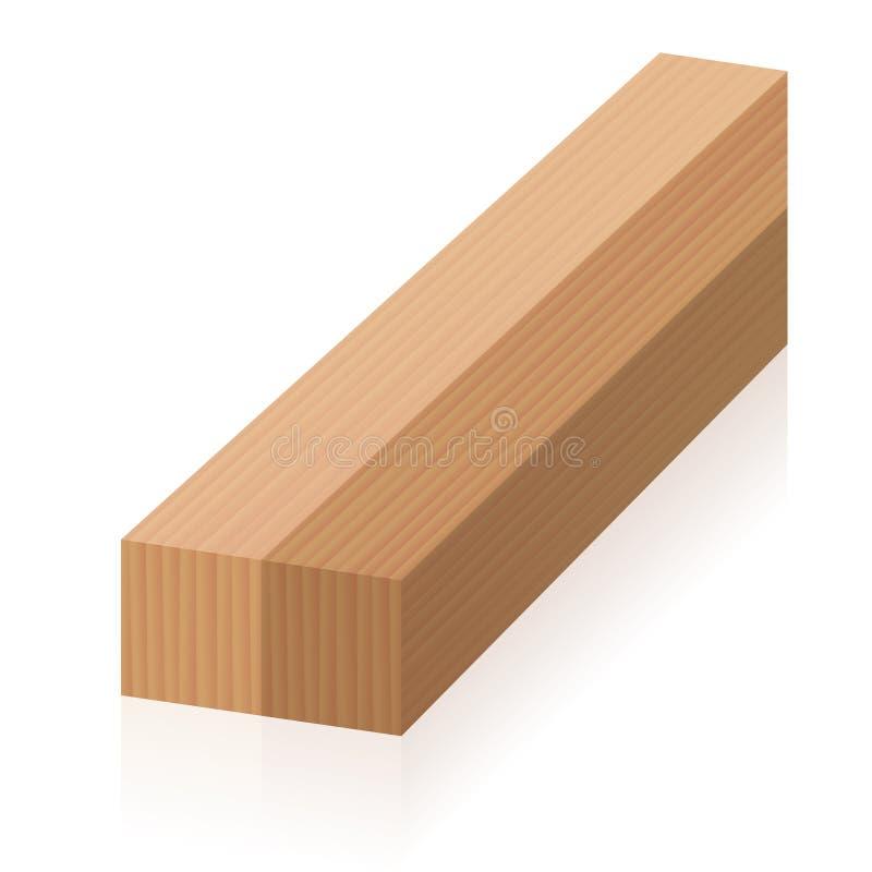 Figura impossível blocos de madeira da ilusão ótica dois ilustração royalty free