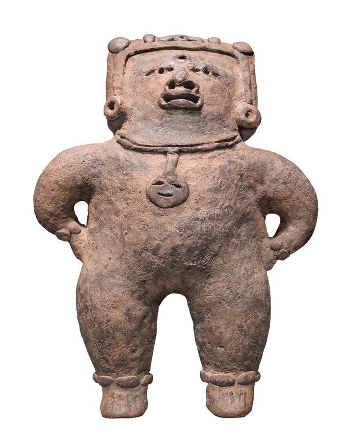 Figura maia antiga isolada. foto de stock