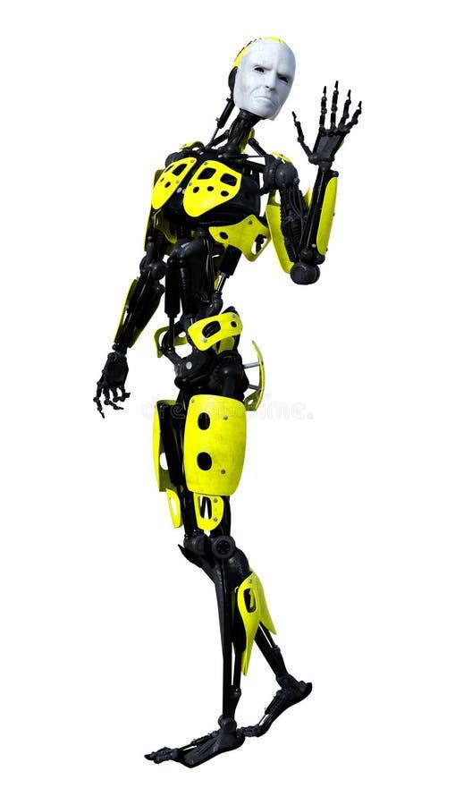 figura masculina de la anatomía de la representación 3D en blanco libre illustration