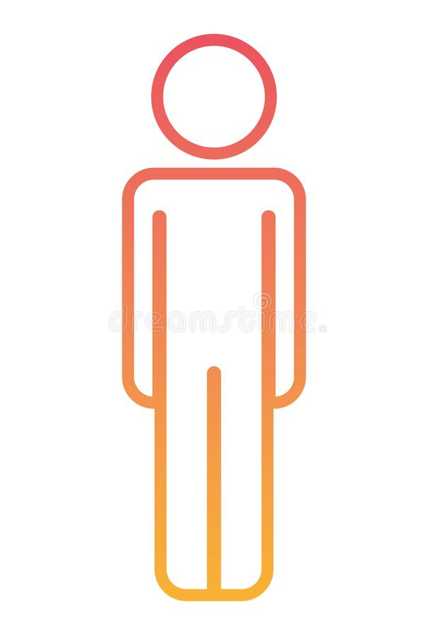 Figura masculina silueta humana stock de ilustración
