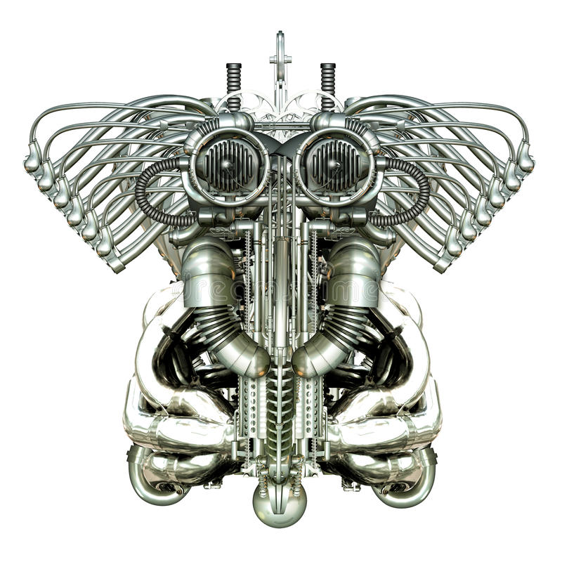 Figura mecânica ilustração do vetor