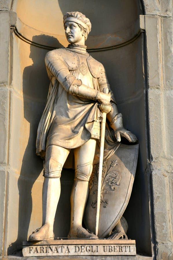 Figura medieval em Italy foto de stock