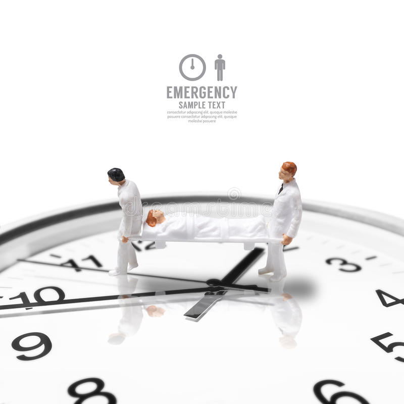 Figura miniatura emergenza dell'infermiere maschio di salute di concetto fotografia stock libera da diritti