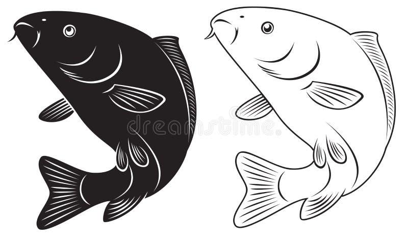 Download Carpa ilustração do vetor. Ilustração de desenho, símbolo - 29844319