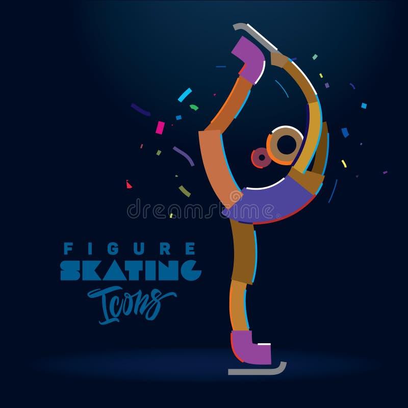 Figura muchacha del patinador libre illustration