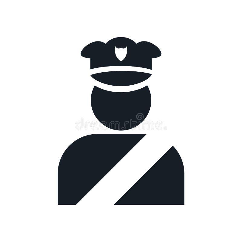 Figura muestra y símbolo del policía del vector del icono aislados en el fondo blanco, figura concepto del policía del logotipo ilustración del vector