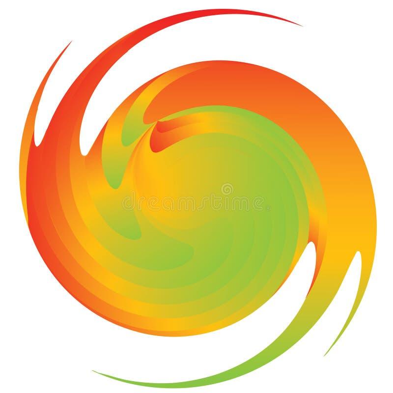 Figura multicoloured abstrata. ilustração stock