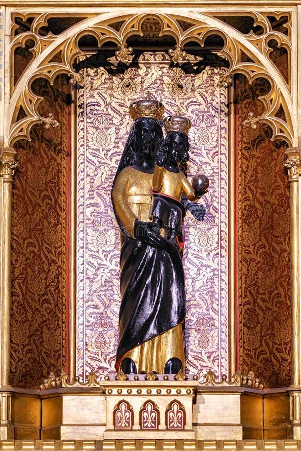 Figura negra de Madonna imagen de archivo