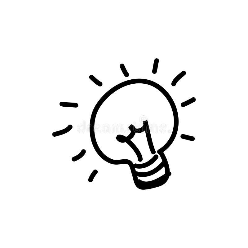 figura o ícone da ideia do bulbo ilustração stock