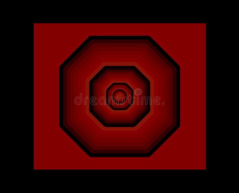 Figura octagonal en rojo y negro libre illustration