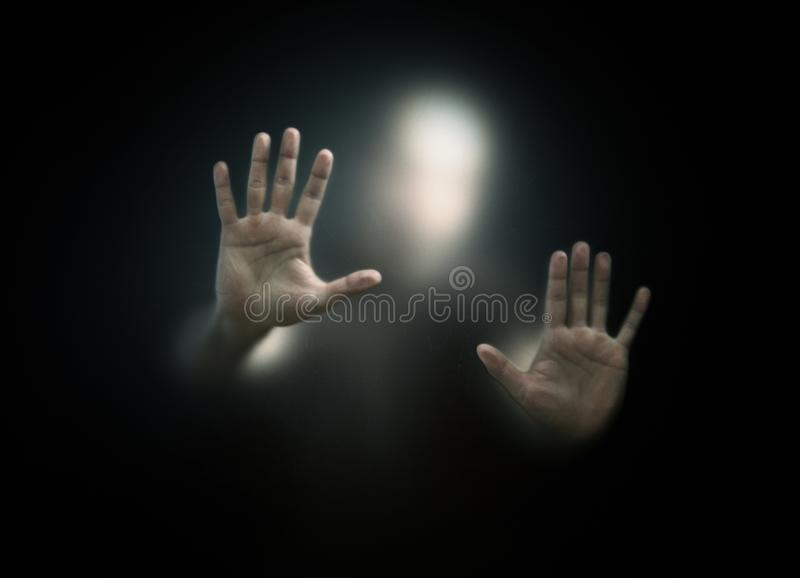 Figura oscura fotografia stock
