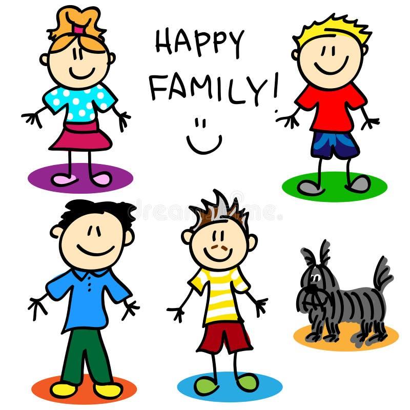 Figura pais de família da vara do homossexual ilustração stock
