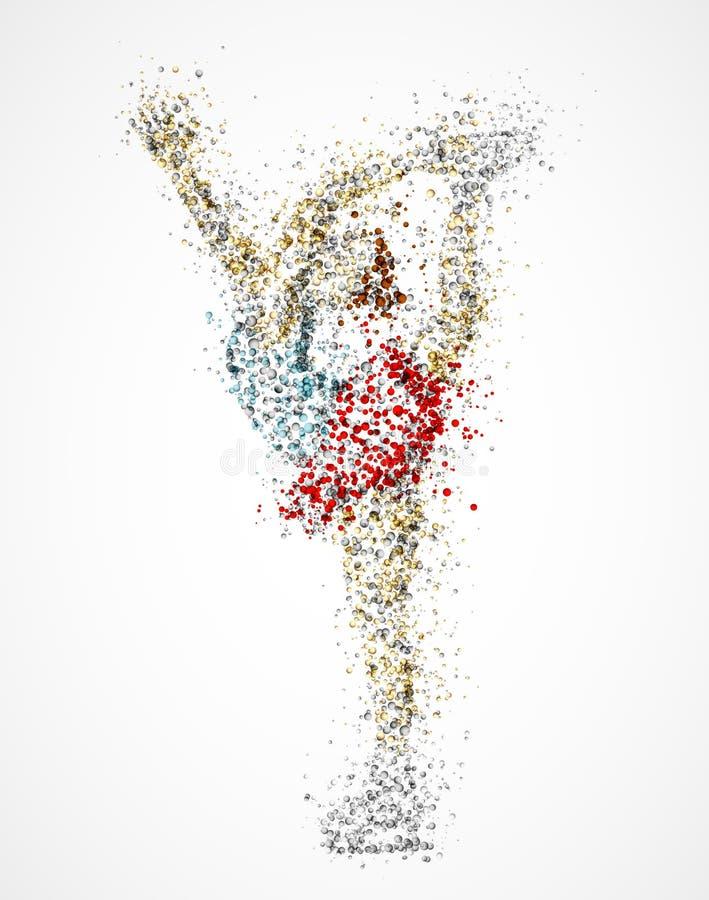 Figura patinador abstracta ilustración del vector