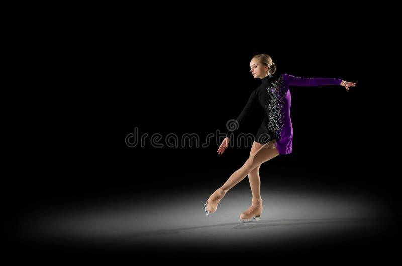 Figura patinador de la chica joven foto de archivo libre de regalías