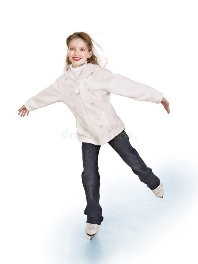 Figura patinagem da rapariga. foto de stock