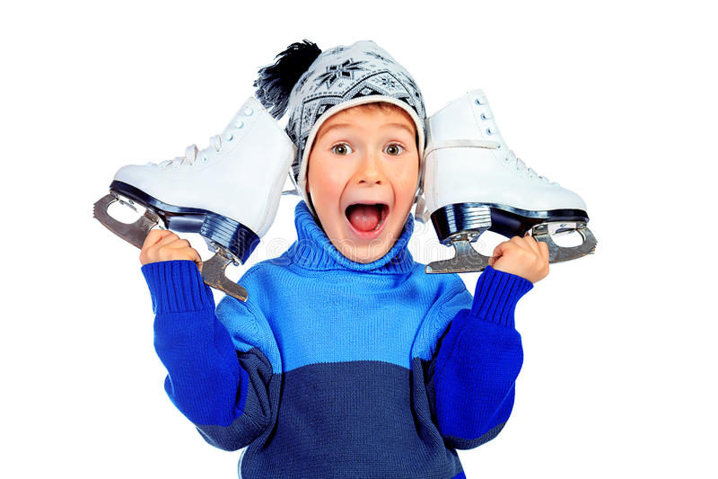 Figura patines fotografía de archivo libre de regalías