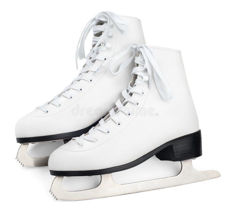 Figura patins branca imagens de stock