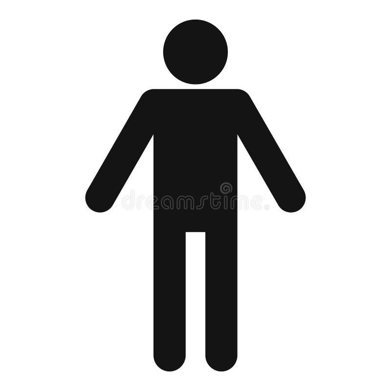 Figura pittogramma del bastone dell'icona di stickman semplice illustrazione di stock