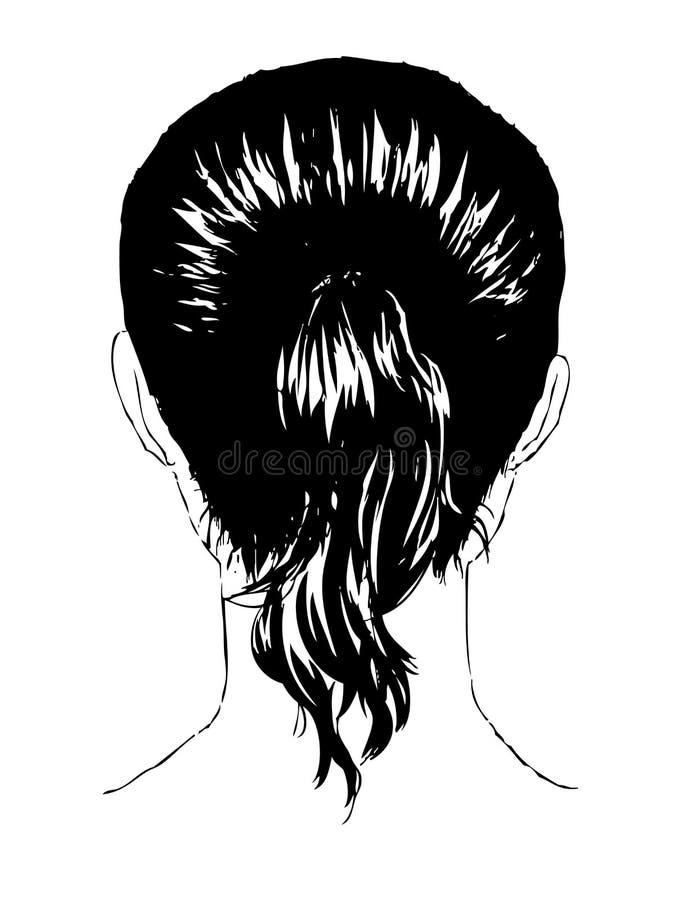 Figura posterior de la mujer stock de ilustración