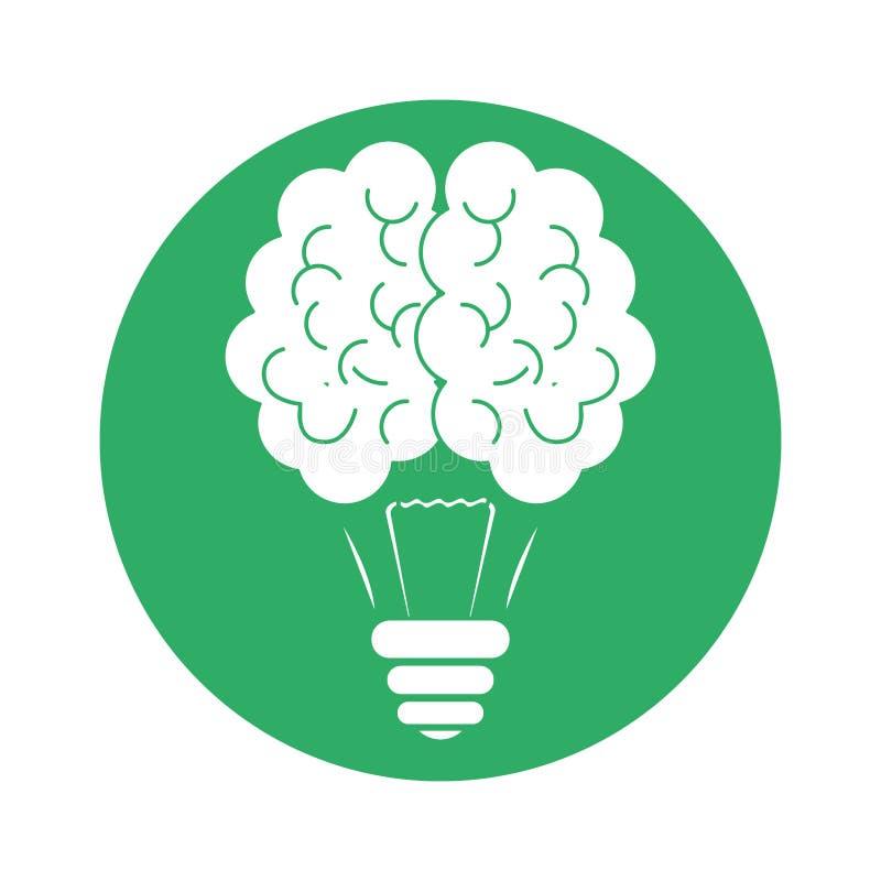 Figura projeto do ícone do bulbo do cérebro ilustração stock