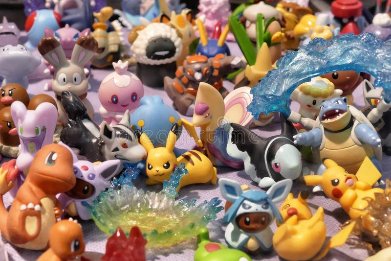 Figura recuerdos lindos del animado del manga de Pokemon de las mercancías del carácter de las muñecas foto de archivo
