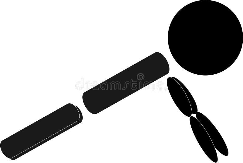 Figura riferimento del bastone di allenamento di piegamento sulle braccia fotografie stock