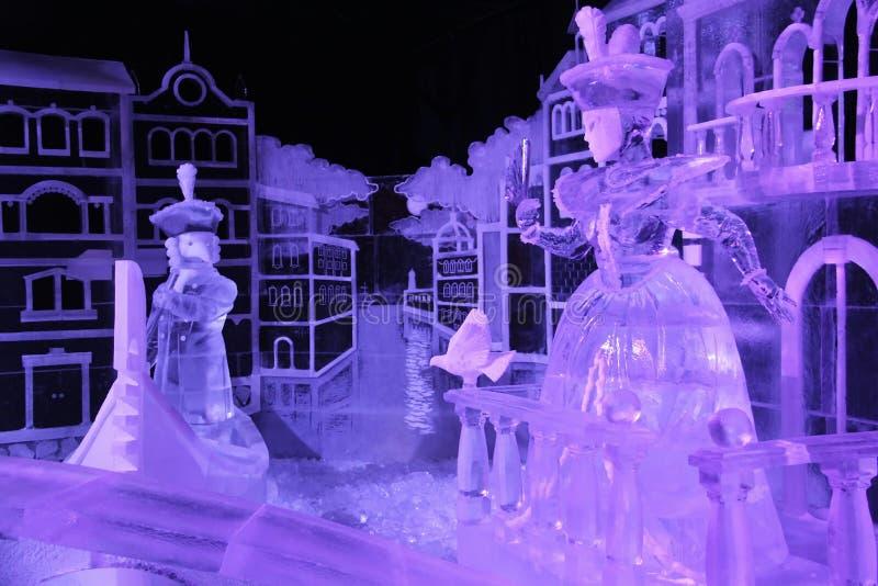 Figura ROM Veneza do gelo da instalação do grupo fotografia de stock
