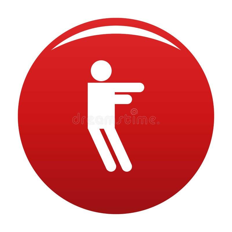 Figura rosso del bastone di vettore dell'icona di stickman illustrazione di stock