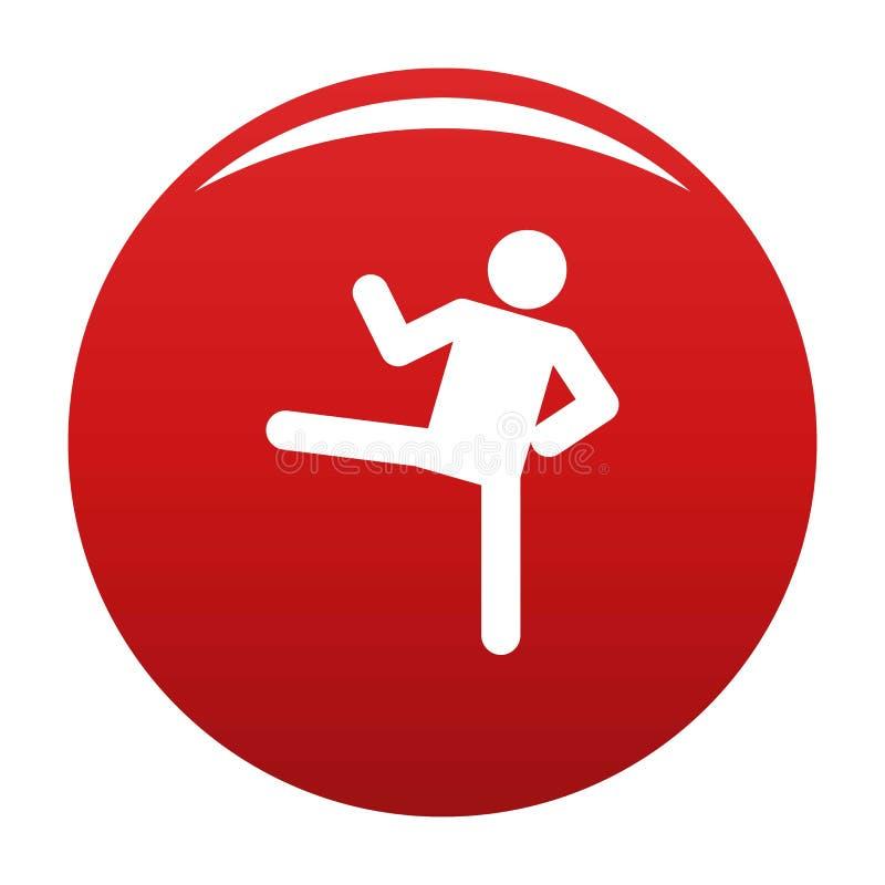 Figura rosso del bastone di vettore dell'icona di stickman royalty illustrazione gratis