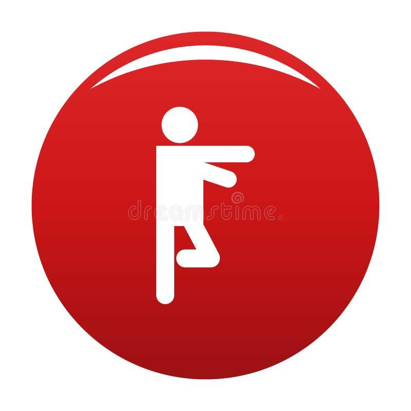 Figura rosso del bastone di vettore dell'icona di stickman illustrazione vettoriale