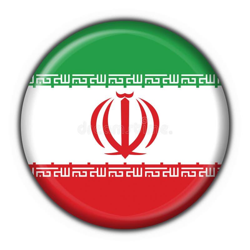 Figura rotonda della bandierina del tasto dell'Iran illustrazione di stock