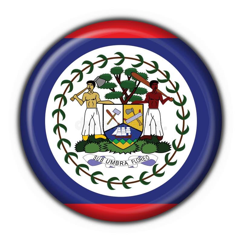 Figura rotonda della bandierina del tasto di Belize royalty illustrazione gratis