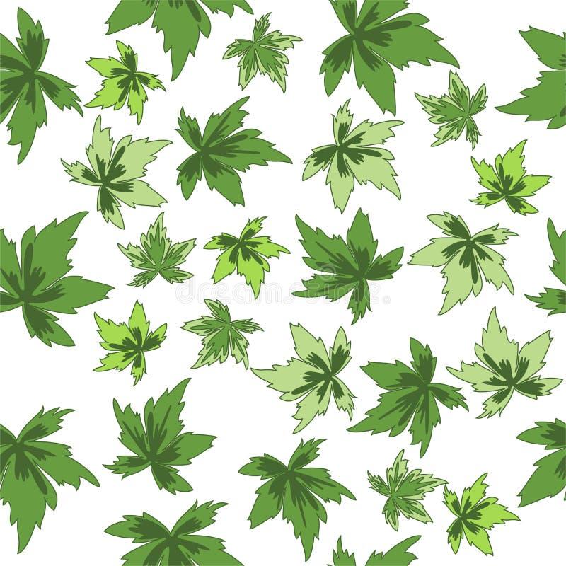 Figura senza giunte fogli di verde illustrazione di stock