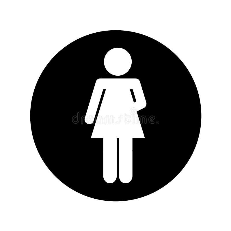 Figura silhouettte de la mujer del ser humano ilustración del vector