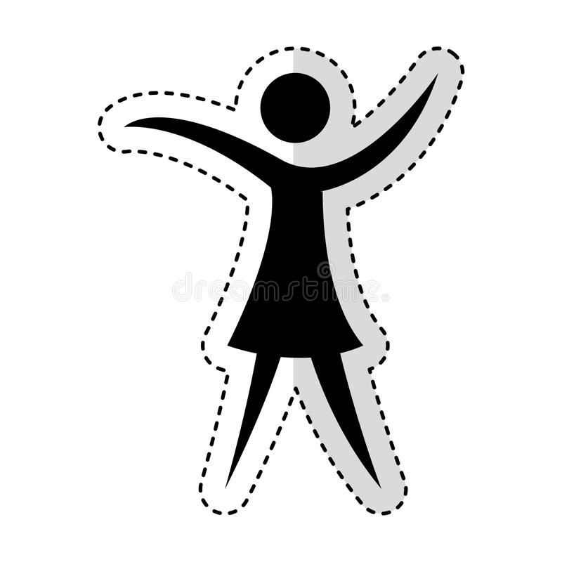 Figura silhouettte de la mujer del ser humano stock de ilustración