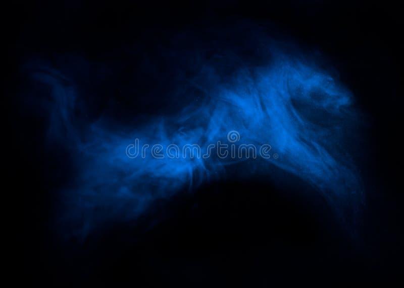 Figura siluetta del cavallo catturata in foschia del fumo immagini stock libere da diritti