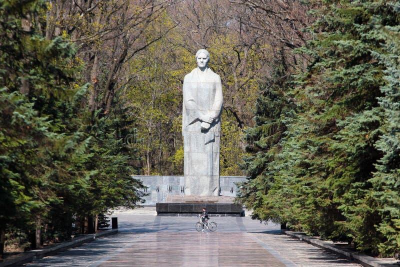 Figura simbólica da pátria em Kharkiv, Ucrânia imagens de stock