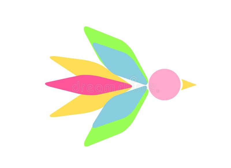Figura simbólica do pássaro ilustração stock