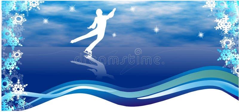 Figura skater ilustração royalty free