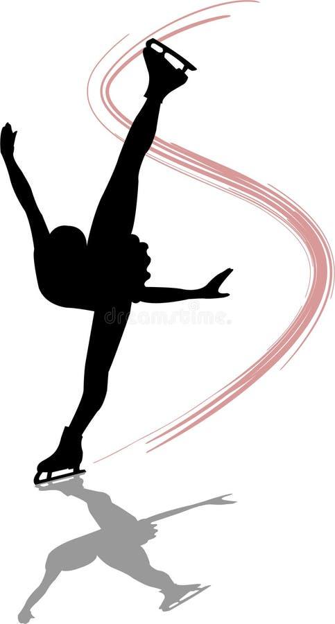 Figura skater Spiral/ai ilustração royalty free