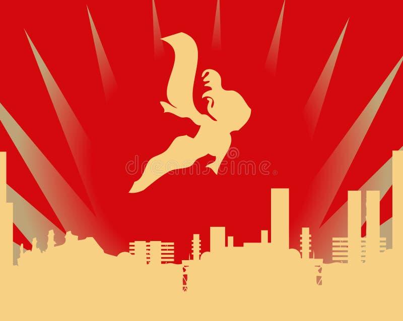 Figura super héroe del palillo ilustración del vector