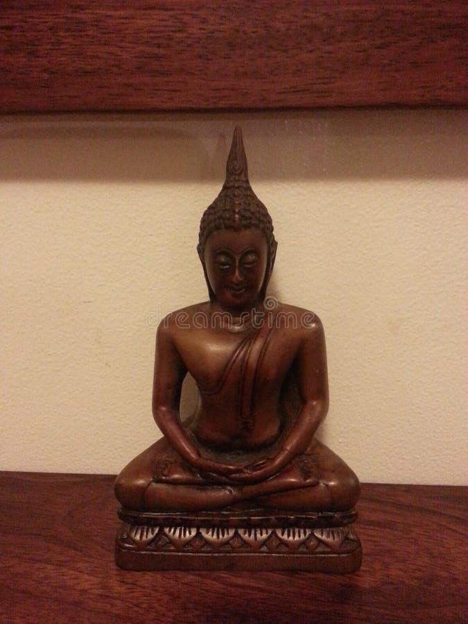 Figura tailandesa de madeira imagem de stock royalty free