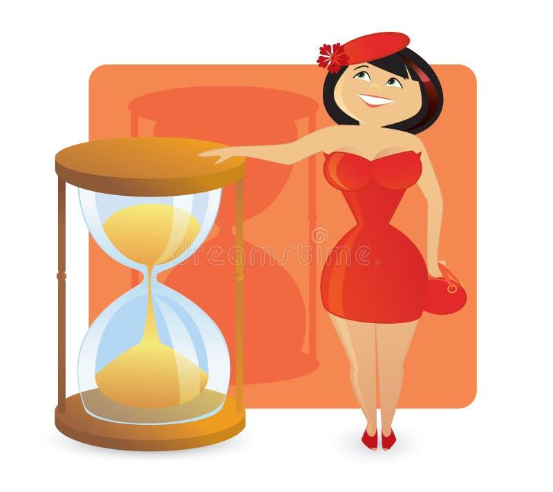 Figura tipos das mulheres: hourglass 'sexy' foto de stock royalty free
