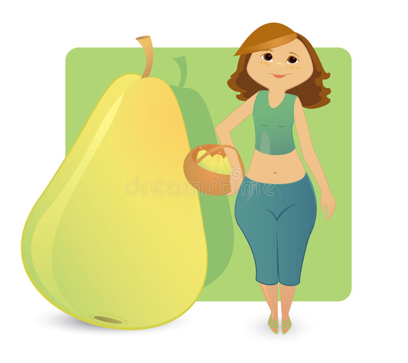 Figura tipos das mulheres: pera doce ilustração royalty free