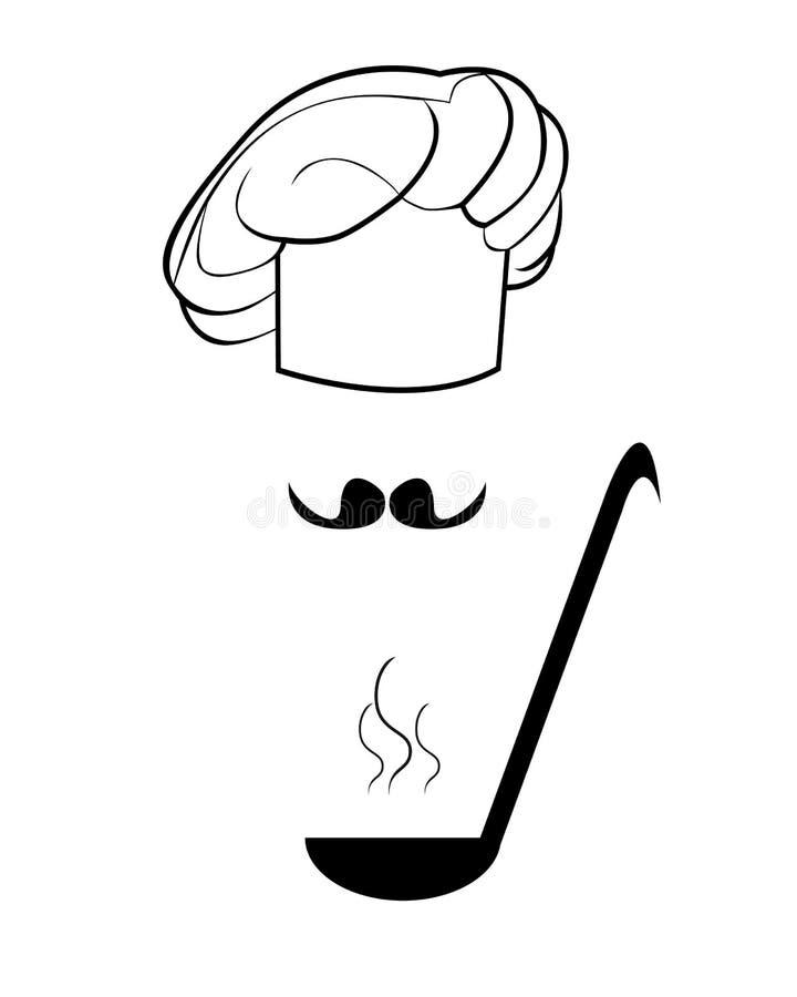 Download Figura toca y cucharón ilustración del vector. Ilustración de negocios - 41917035