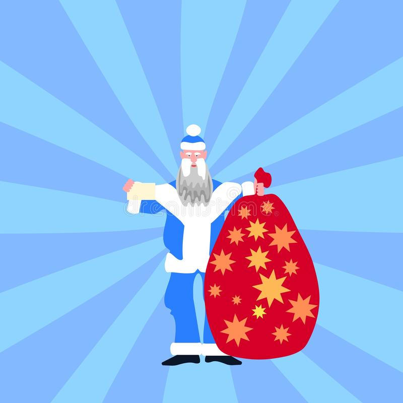 Figura tradicional azul de la Navidad vestido libre illustration