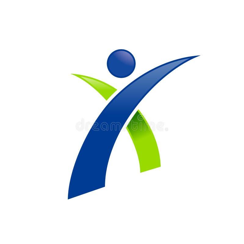 Figura umana iniziale simbolo astratto Logo Design di X illustrazione di stock