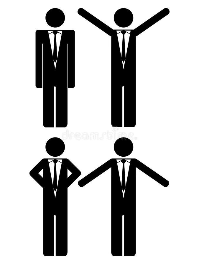 Figura uomini d'affari del bastone illustrazione vettoriale